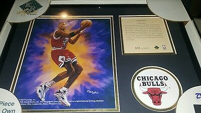 SCOTTIE PIPPEN FRAMED Kelly Russell Lithograph Print Original Art LIMITED EDITIO