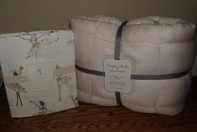 NWT Pottery Barn Kids Monique Lhuillier Ethereal Lace twin quilt & sheet blush