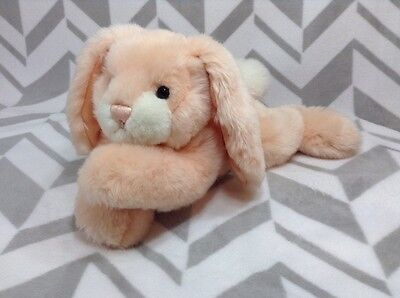 "First & Main FLOPPS Peach Bunny Rabbit 15"" Super Soft Laying Plush Stuffed Toy"