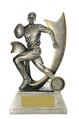 NRL Rugby League Union Velocity Series Resin Trophy Award 200mm Engraved FREE
