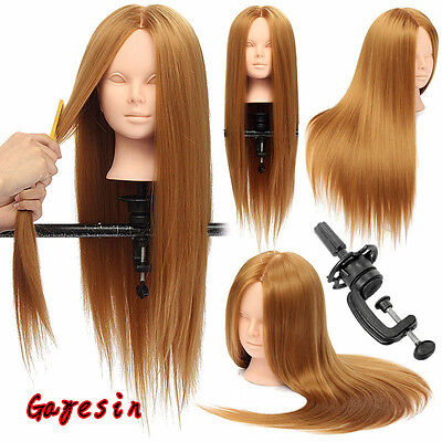 Salon 28 Inch 30% Real Human Hair Makeup Practice Training Mannequin Head Model