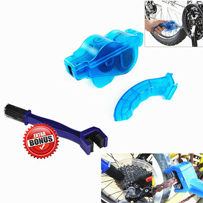 New Cycling Bike Bicycle 3D Chain Cleaner Brushes Scrubber Quick Clean Tool Set