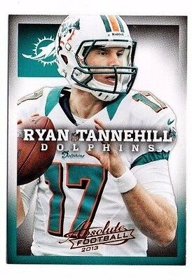 2013 Panini Absolute Retail, Dolphins, Team Set !! 3 Cards !! Ryan Tannehill !!