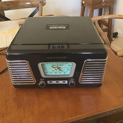 Crosley Reproduction Retro Vintage Record Player Black