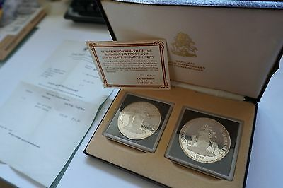 1978 Commonwealth of the Bahamas $10 Silver Coin Proof  - 90g .925 silver