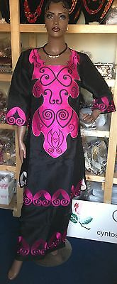 African Senegalese Style top and a wrapper Skirt Size available: XL
