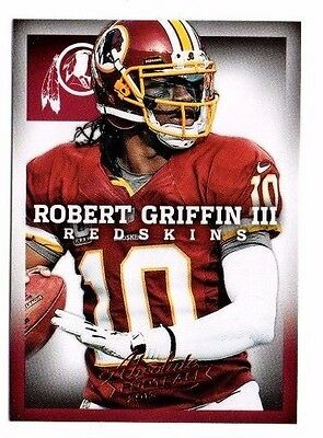 2013 Panini Absolute Retail, Redskins, Team Set !! 3 Cards !! Robert Griffin !!