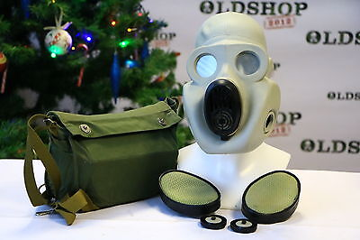 Soviet Army WW2 Gas Mask PBF EO-19 with filter and bag Gray Rubber FUNY GIFT