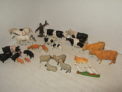 Britains Farm Animal Pack B, 25 piece Cow Heavy, plus Pigs, Sheep, Goats, Geese