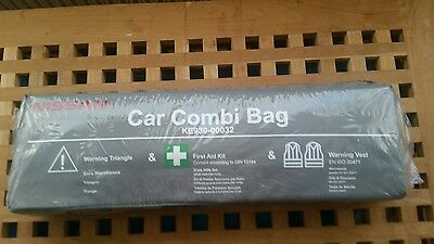 Genuine  Nissan Car Combi Bag Triangle Warning Vests, First Aid