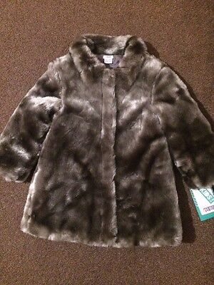 Girls Fur Coat Size 4-5 Years from Mamas And Papas