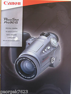 Canon Powershot PRO 90 IS digital camera sales brochure - 16 pages - 2001