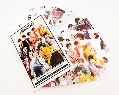 K-pop SEVENTEEN Postcard Photograph Set With stickers