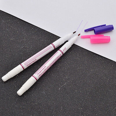 Air Erasable Marker Pen Two Heads Disappearing Ink Fabric Sewing Tools Supplies