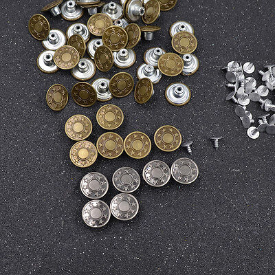 Pentagram Metal Buttons for Suspender Jeans Trousers Button Clothes Replacement