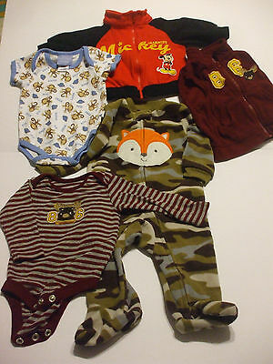 LOT 5Pcs Baby Clothes 3-6 Months Polyester & Cotton