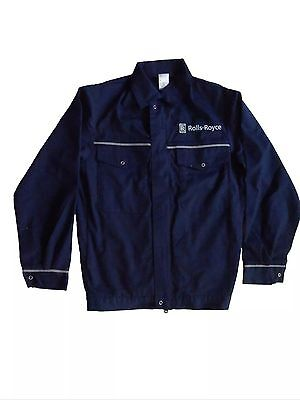GENUINE 90's VINTAGE ROLLS-ROYCE FACTORY ISSUE OVERALL WORKWEAR JACKET TOP M
