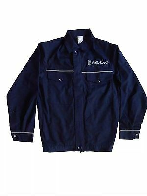 GENUINE 90's VINTAGE ROLLS-ROYCE FACTORY ISSUE OVERALL WORKWEAR JACKET TOP S