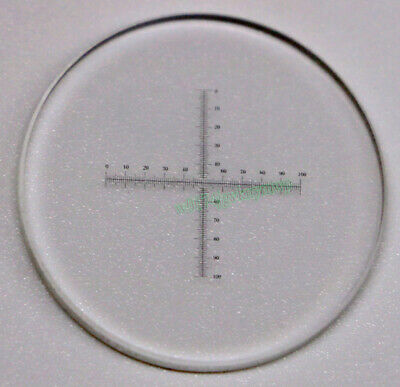 1pcs Microscope Objective Stage Micrometer Calibration Slide 10mm/100 0.1mm C7