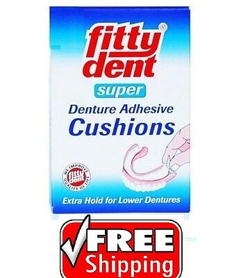 FITTYDENT SUPER DENTURE ADHESIVE CUSHIONS FOR LOWER DENTURES. 20pcs.!!!!