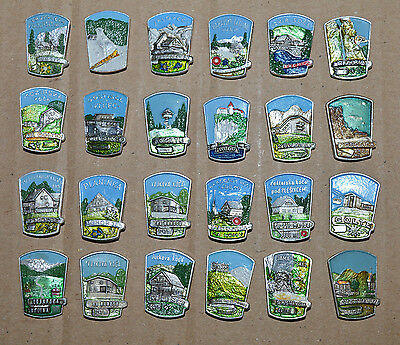 Mountaineering hiking alpinism mountain peak lodge Yugoslavia pin badge set
