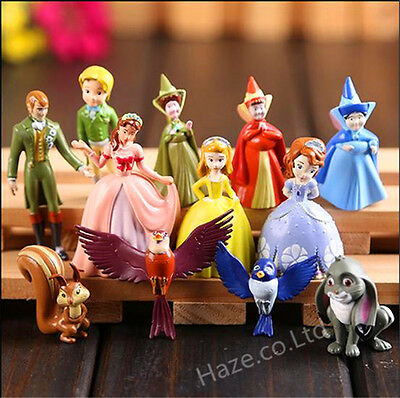 12pcs Sofia the First Princess Figurines Sophia Cake Topper Figures Décor
