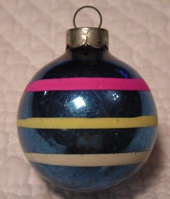 """Vintage Feather Tree Mercury Glass Christmas Ornament  Coby STRIPED 2"""""""
