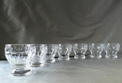 7 vintage whisky/water glasses signed BRITISH SAWREX