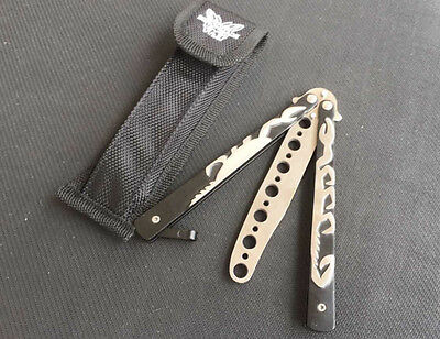 Black SCORPION Practice BALISONG BUTTERFLY Trainer Knife