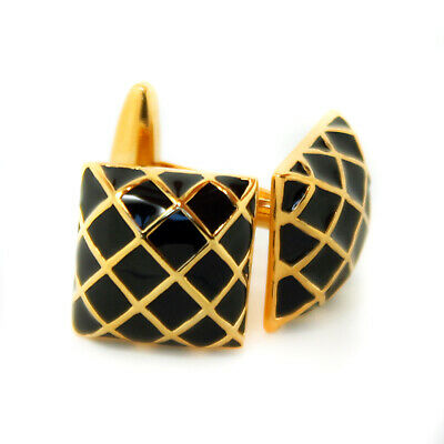 Vintage Black and Gold Colour Cufflinks