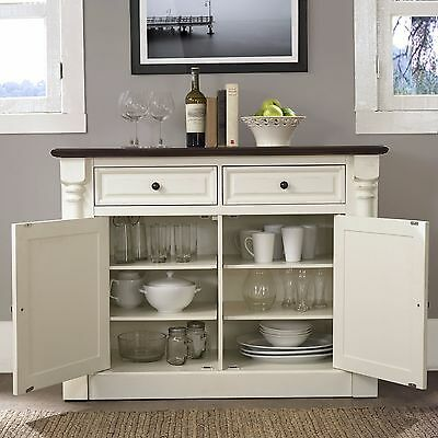 White Sideboard Buffet Cabinet Kithcen Storage Dining Server Wood Console Table