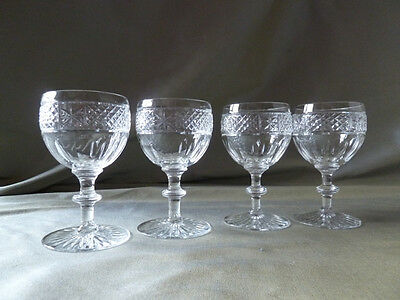 small vintage Webb Corbett sherry glasses, not signed, VGC