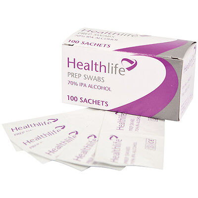 Healthlife Prep Swabs 70% IPA Alcohol Wipes NHS Medical Tattoo Nails Injection