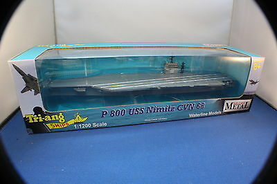USN Nimitz Aircraft  Carrier Huge Ship. Boxed New triang Minic.