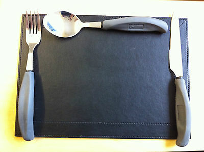 Disability Cutlery Easy Hold Large Handle Knife Fork Spoon Rubber Big Handled
