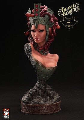 Beastly Beauties 1:2 Scale Medusa Premium Statue Bust From Hmo Collectibles