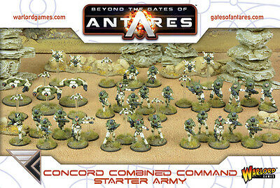 Concord Combined Command (C3) Starter Army. 28mm Sci-Fi miniatures.