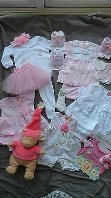 Baby girl bundle brand new clothing ex shop stock 3-6 months or larger reborn