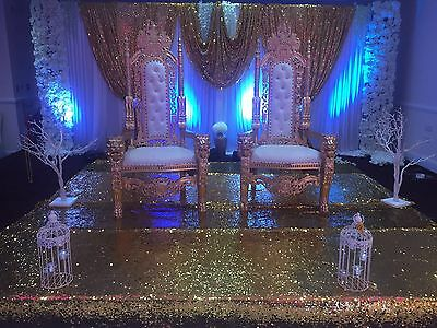 Wedding Gold Throne Chairs / His & Hers / King & Queen Chairs FOR HIRE ONLY