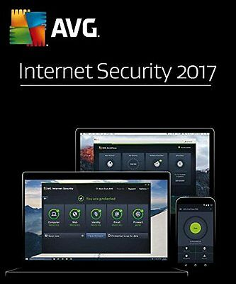 AVG INTERNET SECURITY 2017 - 1 PC for 2 Years - DOWNLOAD ONLY
