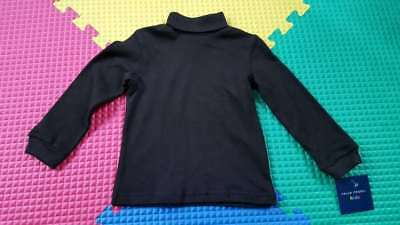 Toddler Boys Turtleneck Top, Long Sleeve, Black, 100% Cotton, Multi Sizes, New