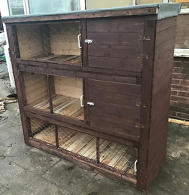 Large Rabbit Hutch Guinea Pig Hutches Run Large 3 Tier