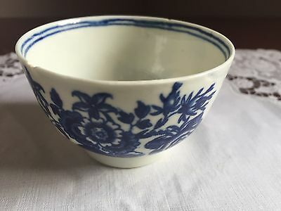 Antique Dr Wall Worcester Blue And White Small Cup.