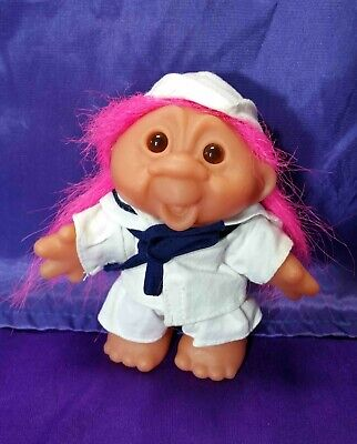 """Dam 4 1/2-5"""" Sailor OR Clown OR Girl with Hair Curlers Troll Doll"""