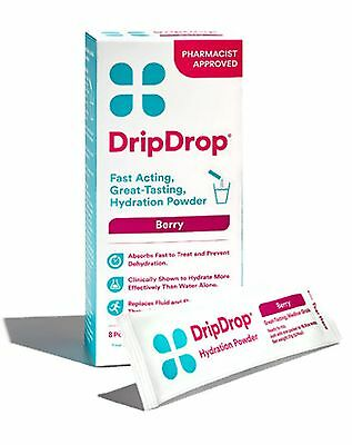 Drip Drop Hydration Powder, Berry Flavor - 8 Count - EXP 8/17+