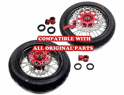 4.25*17'' Supermoto Wheels Rims Set & Tire Fit Honda Xr400R 96-04 Xr600R 91-00