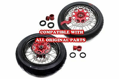 5.0*17 Supermoto Motard Wheels Rim Set Cst Tire Fit Honda  Xr650R 00-08 Sprocket