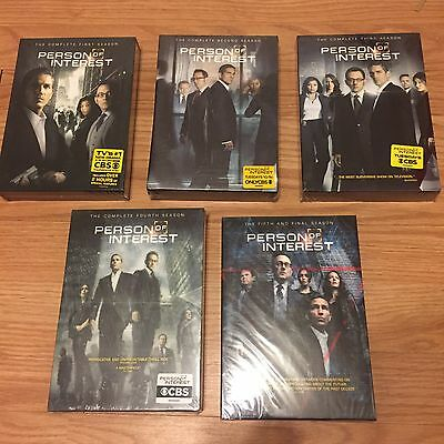 New & Sealed Person Of Interest Complete Series Seasons 1-5 Dvd Boxset.