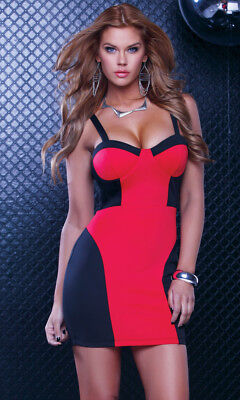 Plus Size Stretch And Lace Bustier 1X/2X / Red