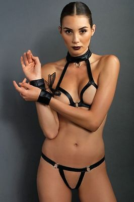 Open Cup Bra Top and G-String Restraint Set